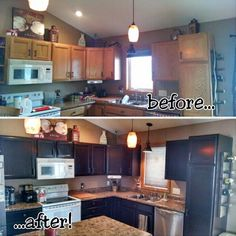 Brown Mahogany Gel Stained Kitchen Cabinets | General Finishes Design Center