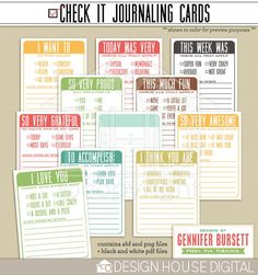Loving these #projectlife 3x4 Cards from Gennifer Bursett!