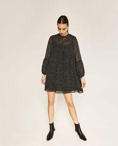Image 1 of POLKA DOT PRINT DRESS from Zara