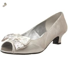 J.Renee Women's Sherri Open-Toe Pump,Pearl White,10 WW US - Jrenee pumps for women (*Amazon Partner-Link)