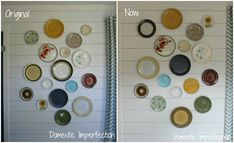 A Plate Wall Update.... the first Plate Wall did not work so after some re-doing... this is her new Plate Wall.  Nice!