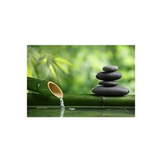 Spa Still Life With Bamboo Fountain And Zen Stone Photographic Wall... (275 CNY) ❤ liked on Polyvore featuring home, home decor, wall art, backgrounds, artists, photography posters, bamboo wall covering, bamboo home decor, stone wall covering and photographic wall art