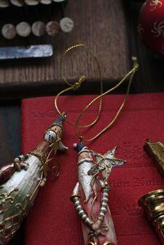christmas ornament, red, vintage tast  Santa Claus, Father Christmas
