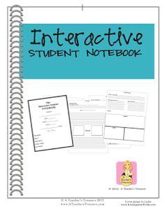 Sch00l Stuff: Fabulous Finds Friday: Interactive Studnt Notebook