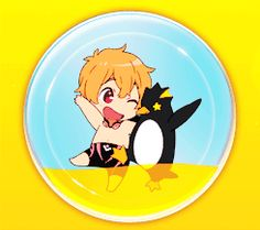 Free! ES ~~ Cuties, colors, and critters :: Nagisa, yellow, and penguin