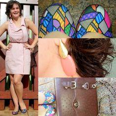 blog v@ LOOKS | por leila diniz: Dia 10 de 30 usando SÓ VESTIDOS! Hoje rosinha com sapatilha estampa Romero Britto ♥
