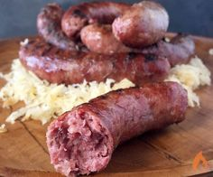 All of the great flavors of pastrami are stuffed into these juicy Corned Beef Brisket Sausages10 sausages1 3-pound Corned Beef Brisket Point ½ lb (6 slices) uncooked bacon sausage casingRinse off the brisket under cold water and pat dry with paper towels. Cut into 2-inch cubes. Place on a sheet pan with the bacon and freeze