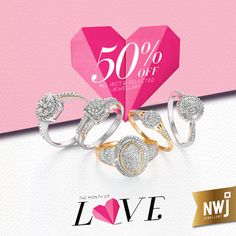 With love from us to you... 50% off all 18ct Gold and selected jewellery