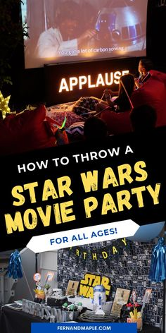 Is there a Star Wars fan in your family or group of friends? These fun Star Wars Movie Party ideas are perfect for kids and adults of any age. Get details for how to set it up the watch party, as well as party food, party drink, party activity and party decor ideas now at fernandmaple.com!