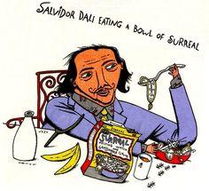 What else would Dali eat? | Community Post: 20 Spectacularly Nerdy Art Jokes