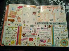 POUR TOI creazioni di Micky D'Alpaos: Molang Diary prima settimana GENNAIO  2015