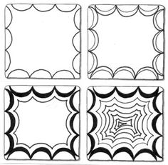Zentangle Patterns | Crescent Moon *Original Zentangle Pattern The Zentangle® art form and ...