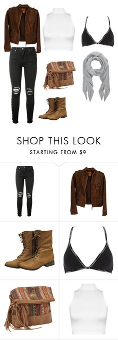 """""""klm"""" by alessiabazzurro on Polyvore featuring AMIRI, Tory Burch, Calvin Klein Underwear, Bandana, WearAll and Accessorize"""