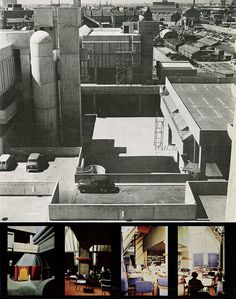 central piazza & the golden bell, tricorn centre, portsmouth. owen luder partnership  AD 11/66