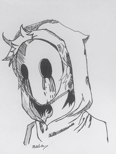 anime, effrayant, masqué, You are in the right place about dessin croquis chat Here we offer you the Creepy Drawings, Dark Art Drawings, Anime Drawings Sketches, Creepy Art, Pencil Art Drawings, Anime Sketch, Cool Drawings, Creepy Sketches, Creepy Masks