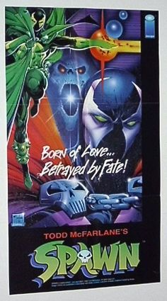 Original 1992 Image Comics Spawn comic book promo poster 1: McFarlane art/1990's