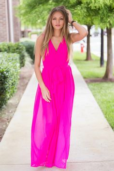 Beautiful, flowy and fab this chiffon maxi would be amazing for any summer event!