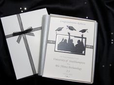 Luxury Handmade Graduation Card: Available in Black and Silver.