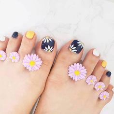 Cat Nail Designs, Toenail Art Designs, Toe Designs, Gel Toe Nails, Gel Toes, Toe Nail Art, Mani Pedi, Manicure, Cat Nails