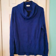 Cow neck sweater (232) Royal blue cow neck old navy sweater xl Old Navy Sweaters Cowl & Turtlenecks