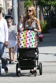 rachel zoe + skyler. missoni bugaboo cameleon stroller.