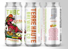 Terre Haute Brewing of Indiana (THBC) – Citraexodus American Wheat Ale – Brand ID & Packaging Island Crafts, New Growth, Arizona Tea, Beer Brewing, Drinking Tea, Marketing And Advertising, Craft Beer, Brewery, Indiana