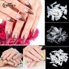500Pcs Stilettos Sharp Nail Art Acrylic False nail Tip White / Clear / Natural