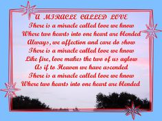 A Miracle Called Love © Copyright Ethel GG Kent