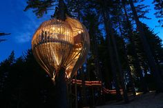 4. If you want to have the most epic wedding, birthday or event of the year, have it at the Redwoods Treehouse in New Zealand. The space is accessed by an elevated treetop walkway, and makes wonderful use of natural lighting.