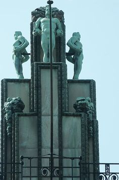 Stoclet Palace, Bruxelles, 1905-1911. Architect Josef Hoffman, sculpture by Franz Metzner