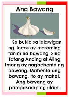 Tagalog / Filipino Reading Passages for reading practice and remedial reading. Grade 1 Reading, Reading Practice, Kindergarten Reading Activities, Kindergarten Teachers, Story For Grade 1, Short Stories For Kids, Kids Stories, Short Passage, Speech Therapy Games