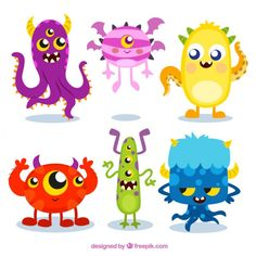 cute monster illustrations - Google Search