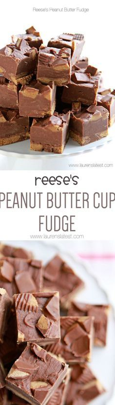 Reese's Peanut Butter Fudge....3 ingredients and 10 minutes is all you need to make this perfect fudge!