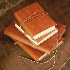Leather Journal -had one that i got in venice but its completely full, i need a new one!!