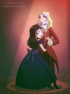 Fan Art of Lydia's School dance for fans of Beetlejuice and Lydia <3.