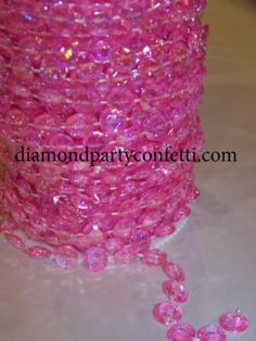 Iridescent Pink Diamond Garland Bead Wedding Decoration