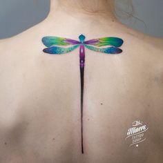 Ważka #dragonflytattoo #colortattoo #popieltattoo #inkminerstattoo