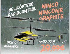 #Helicoptero Radiocontrol Ninco Nincoair Graphite.  http://www.opirata.com/es/helicoptero-radiocontrol-ninco-nincoair-graphite-p-29236.html