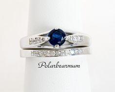 Size 7 Blue CZ Bridal Set WGP. Starting at $8 on Tophatter.com!