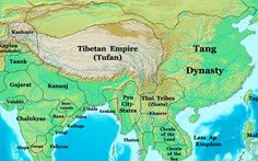 Tang Dynasty in 700 AD.  he Tang Dynasty (唐朝) (June 18, 618 to June 1, 907 AD, was an imperial dynasty of China preceded by the Sui Dynasty and followed by the Five Dynasties and Ten Kingdoms Period.  It was founded by the Li (李) family, who seized power during the decline and collapse of the Sui Empire.  The dynasty was interrupted briefly by the Second Zhou Dynasty (October 8, 690 – March 3, 705) when Empress Wu Zetian seized the throne, becoming the only Chinese empress regnant to rule.