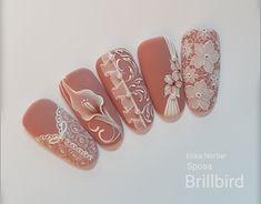 Wedding nail art Nail Art Arabesque, Dream Nails, Bling Nails, Flower Nails, Nail Arts, Wedding Nails, How To Do Nails, You Nailed It, Nail Colors