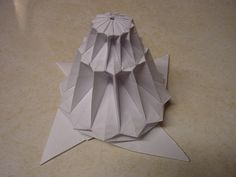 12 Fold 3 Layer Flower Tower (Chris Palmer): Side View |
