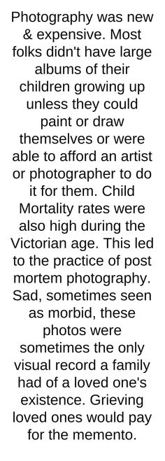 Post Mortem Photo's