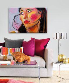 """Saatchi Art Artist: Natalia Baykalova; Oil 2014 Painting """"""""West wind behind"""", inside interior"""""""