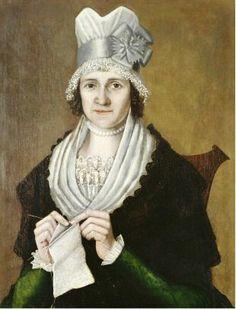 Reuben Moulthorp (1763-1814) Eunecia Street Stebbins of East Haven Connecticut c 1806