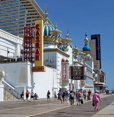 Boardwalk, Atlantic City Casinos, New Jersey, via Flickr
