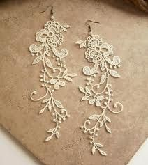 lace jewelry. pretty for a wedding!