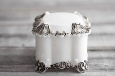 Vintage Lidded Milk Glass Box