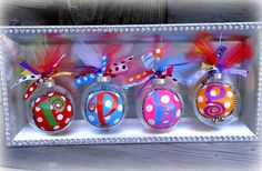 GLITTER Letter Ornaments