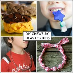 DIY chewelry sensory hacks for kids who chew on everything. Great ideas for kids with autism and/or sensory processing issues from And Next Comes L Más Diy Sensory Toys, Sensory Tools, Autism Sensory, Sensory Diet, Sensory Issues, Sensory Play, Diy Toys, Autistic Toddler, Autistic Children